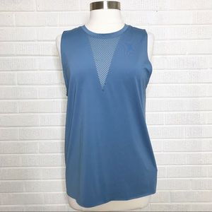 Onzie Tops - Onzie Triangle Mesh Tank in Light Blue One Size